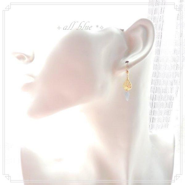 画像4: 第5チャクラ【ありのままの自分を表現する・コミュニケーション・大切なものを守ってくれる 天使の石】天使の羽*エンジェライト* エンジェルピアス 天使の涙 14kgf