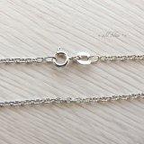 【チェーン】Silver925 チェーンネックレス(ロジウム加工)小豆 アズキ 38・40・45・50cm